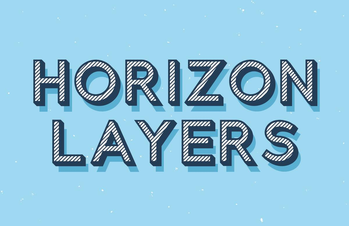 Horizon Layers Font Preview 1