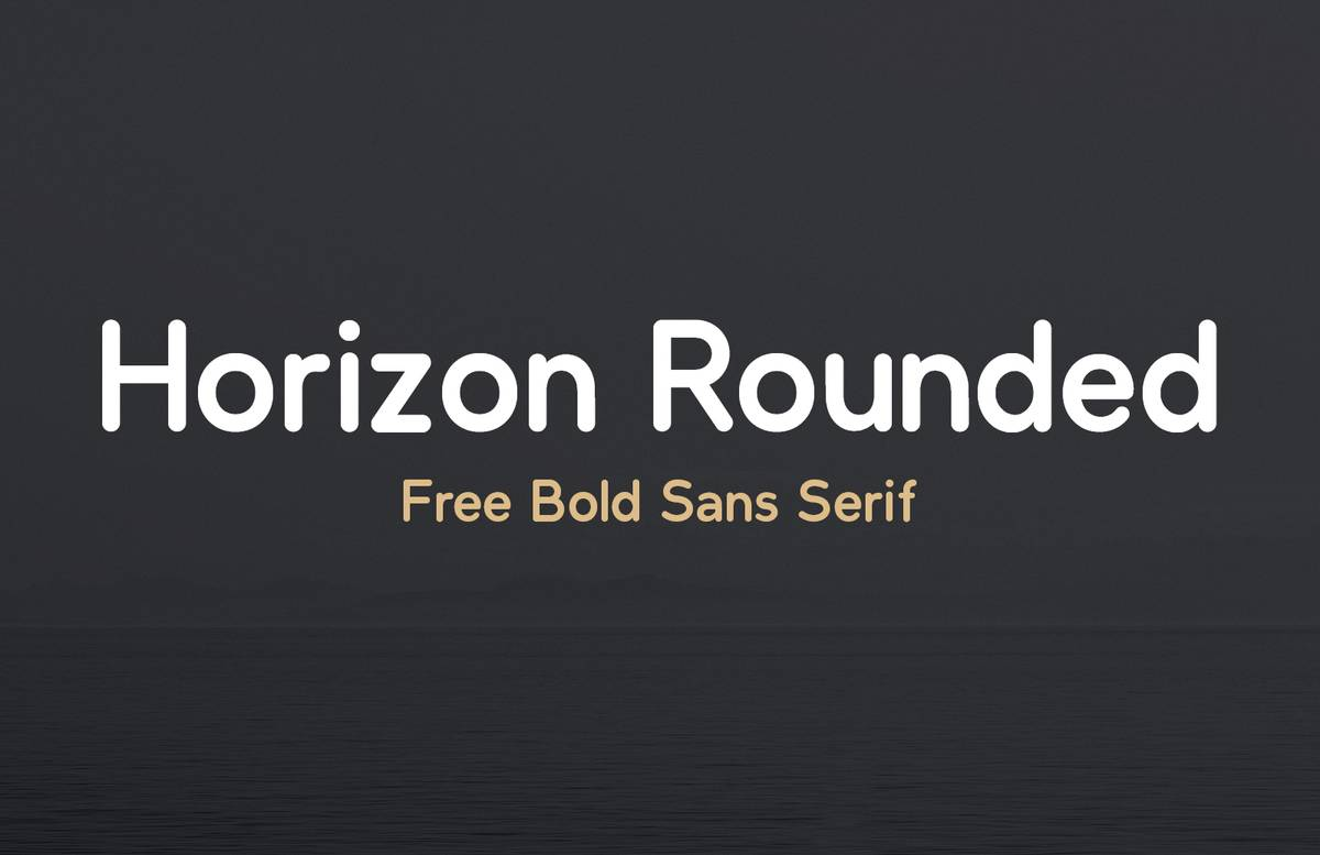 Horizon Rounded Sans Preview 1B