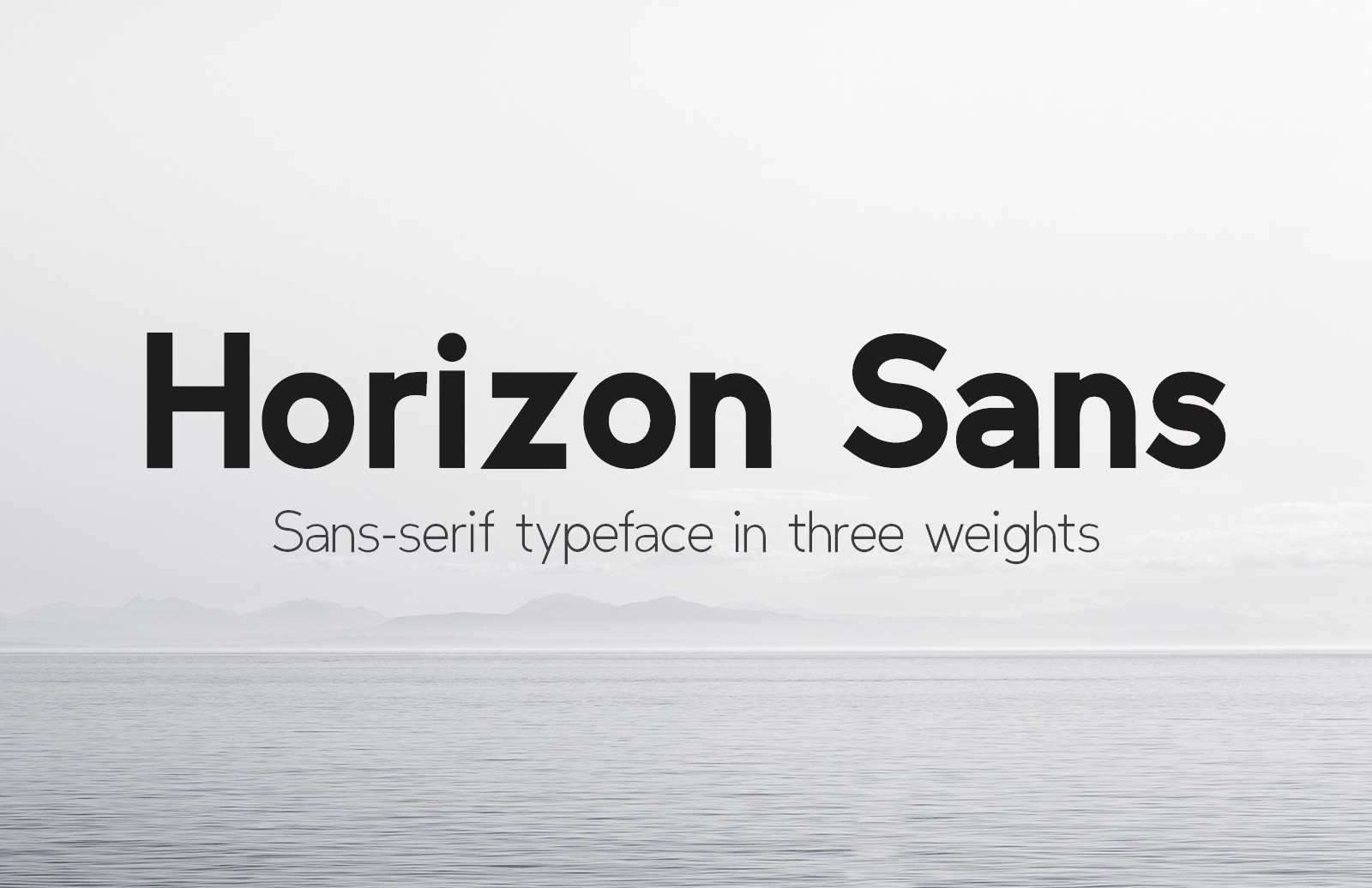 Horizon Sans Preview 1B