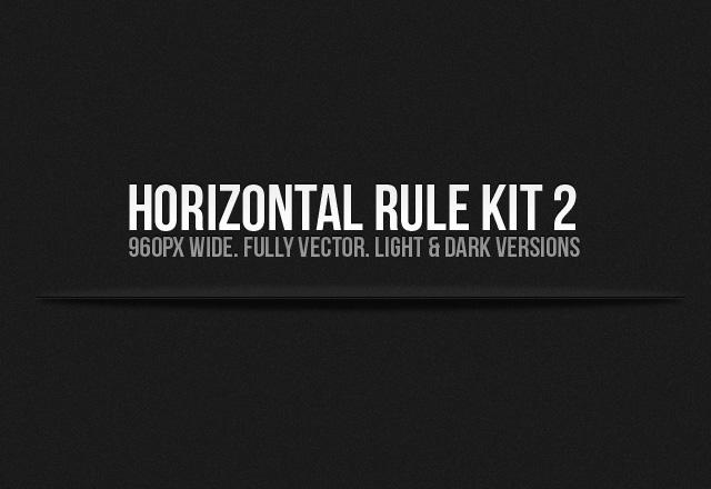 Horizontal Rule Kit 2