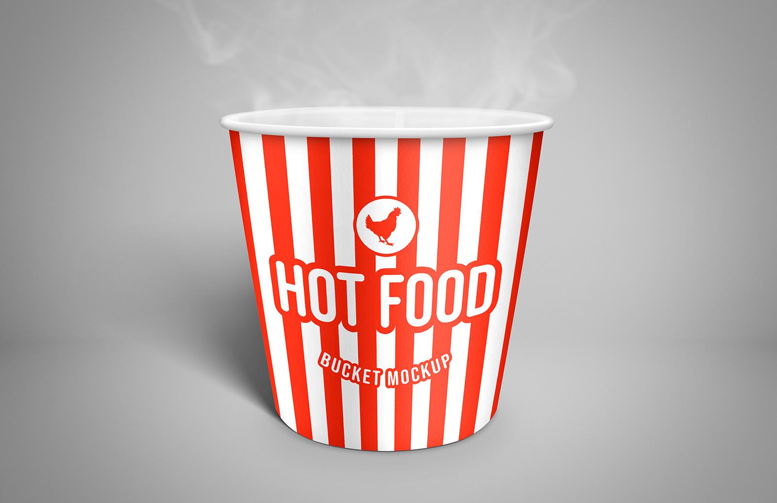 Hot Food Bucket Mockup