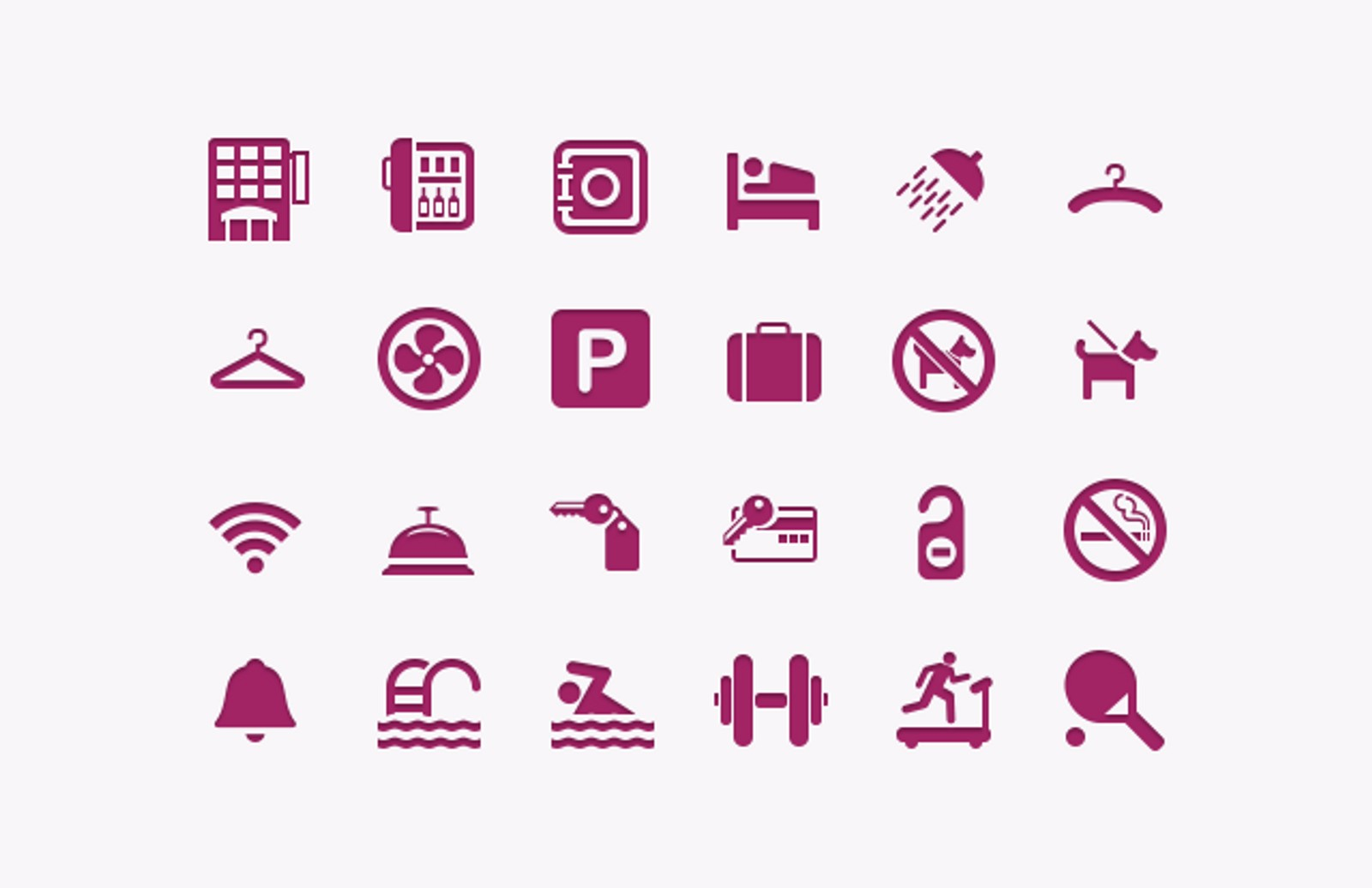 Hotel   Restaurant  Icons  Preview1A