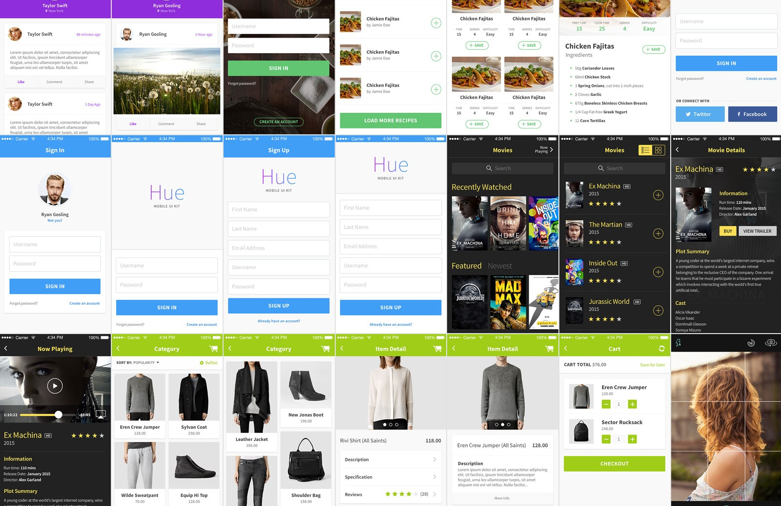 Large Hue  Mobile  Ui  Kit 2  Preview 3