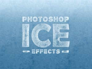 Ice Effects for Photoshop (Text & Shapes) 1
