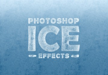 Ice Effects for Photoshop (Text & Shapes)