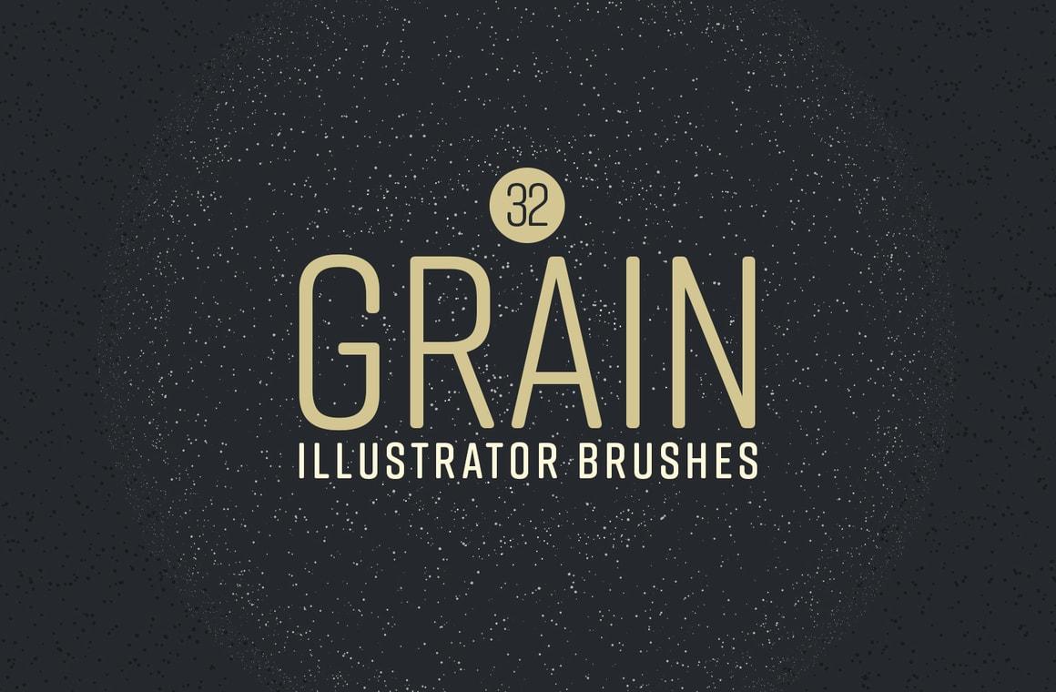 Illustrator Grain Brushes