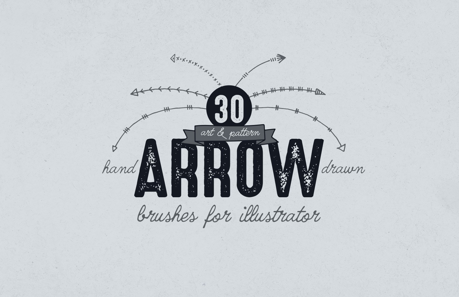 Illustrator Hand Drawn Arrow Brushes Preview 1