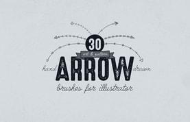 Illustrator Hand Drawn Arrow Brushes