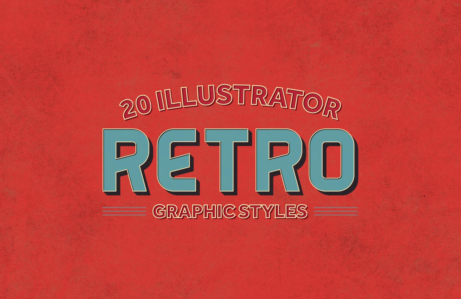 20 Illustrator Retro Graphic Styles 1