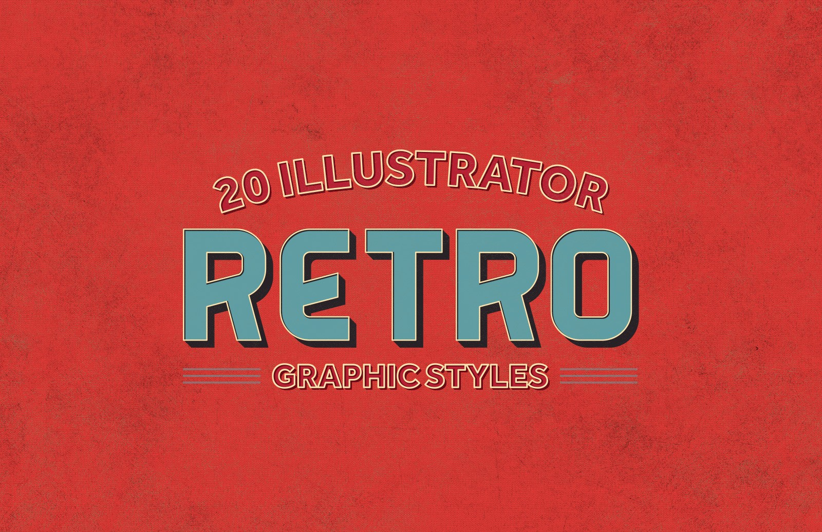 Illustrator Retro Graphic Styles Preview 1