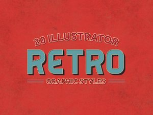20 Illustrator Retro Graphic Styles 1