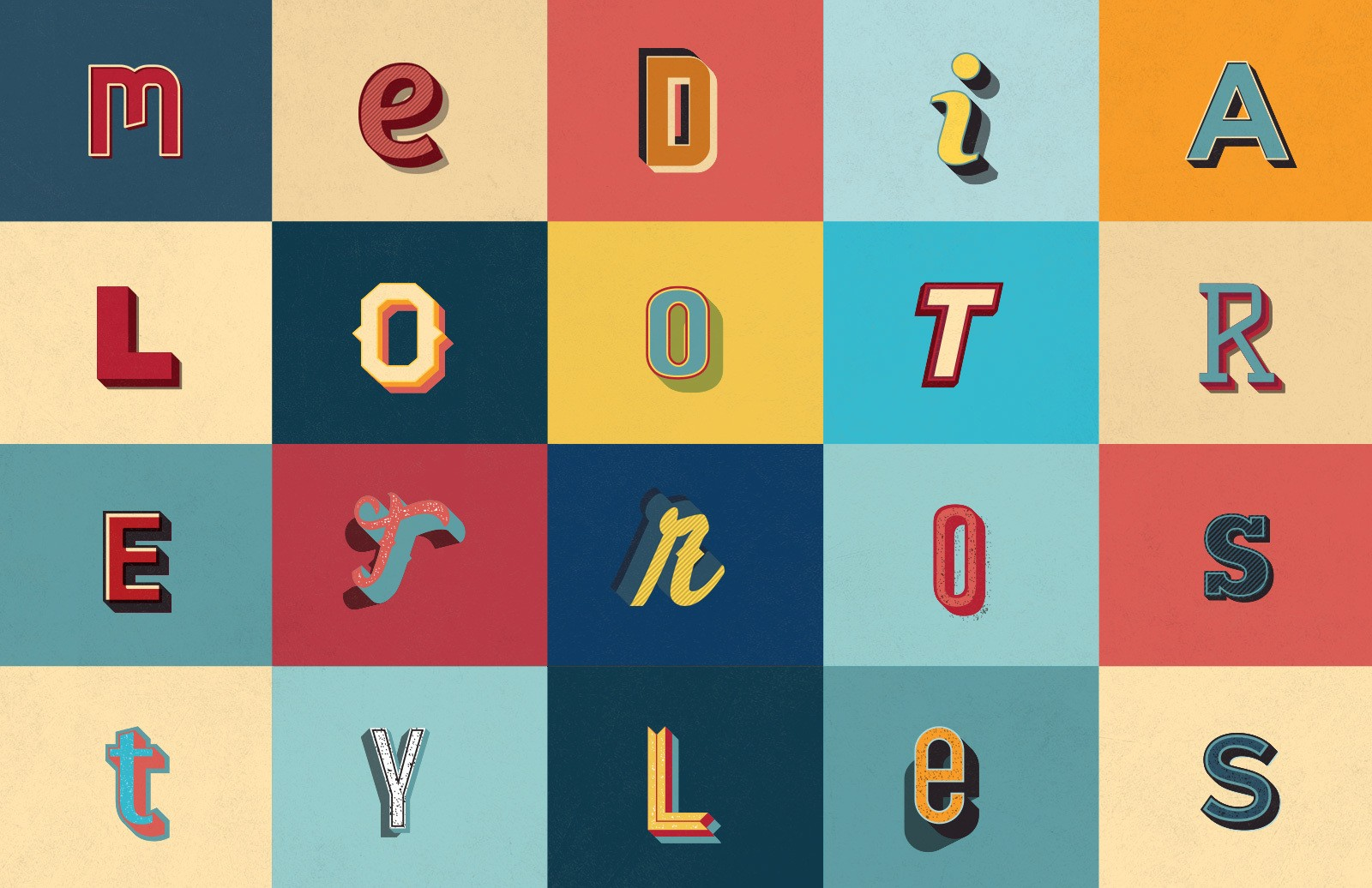 20 Illustrator Retro Graphic Styles 2