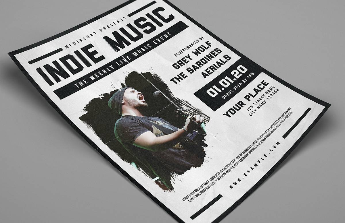Indie Music Live Event Flyer Preview 1