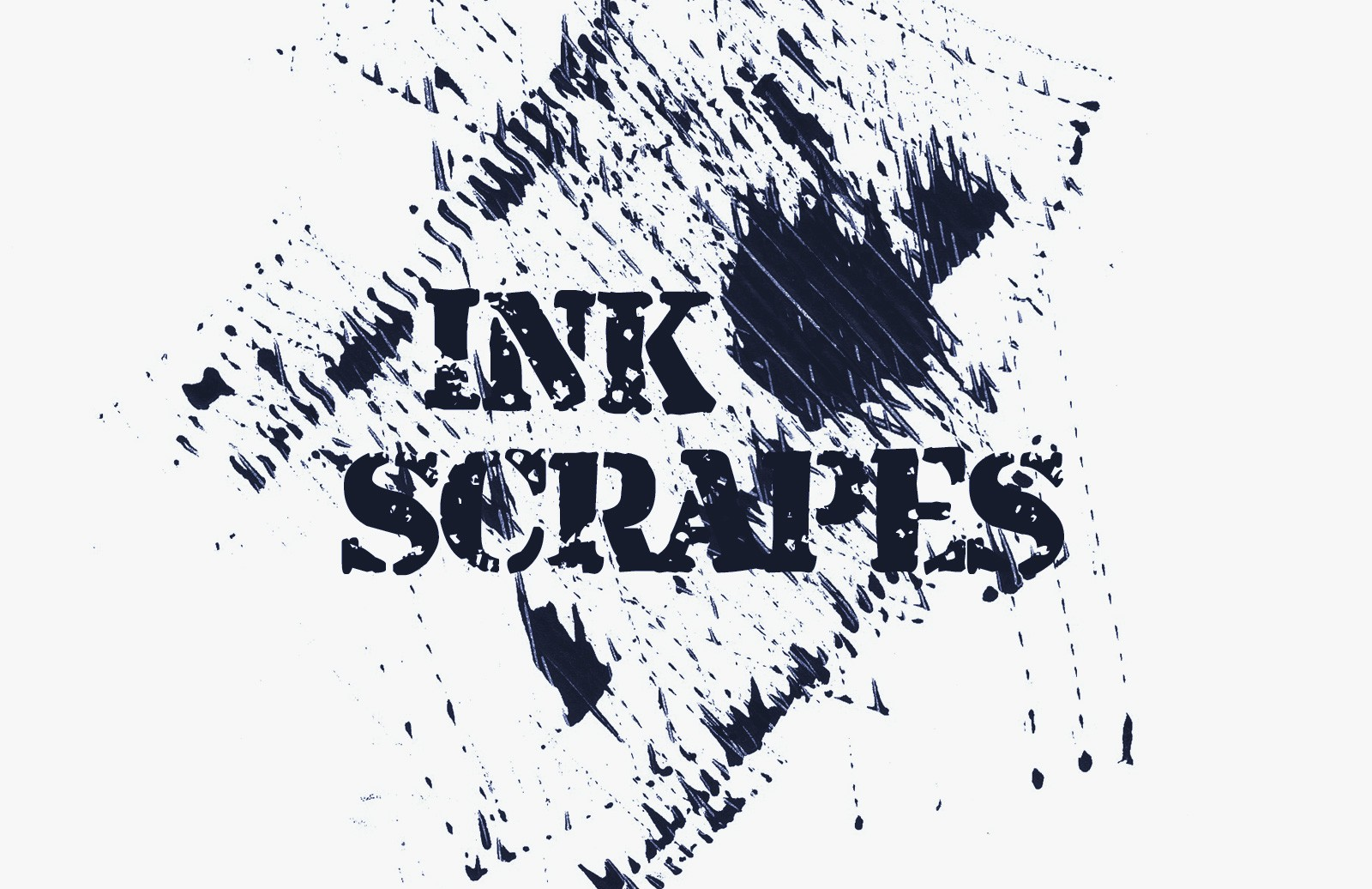 Ink Scrapes Brush Set