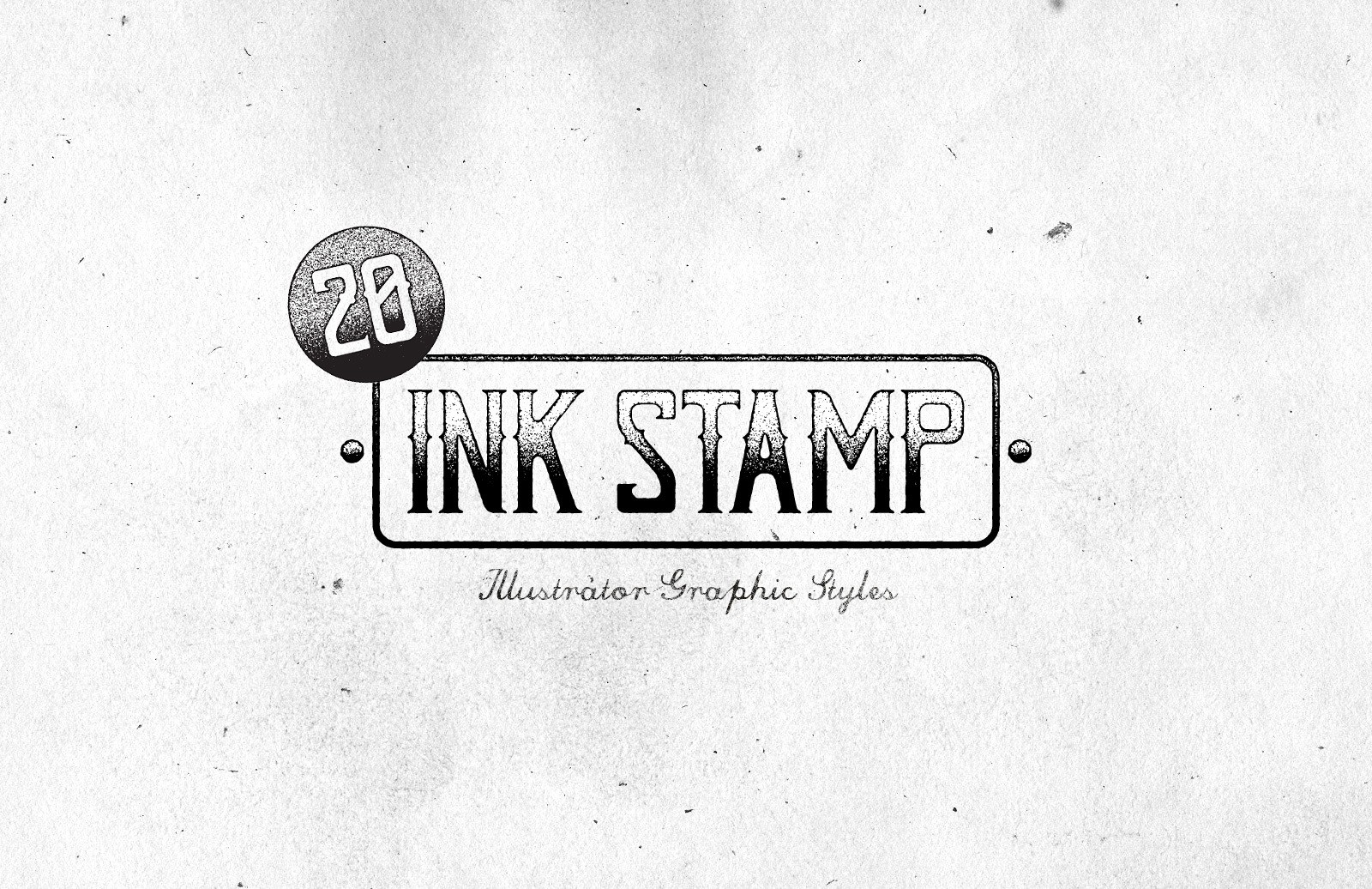 Ink Stamp Illustrator Graphic Styles Preview 1