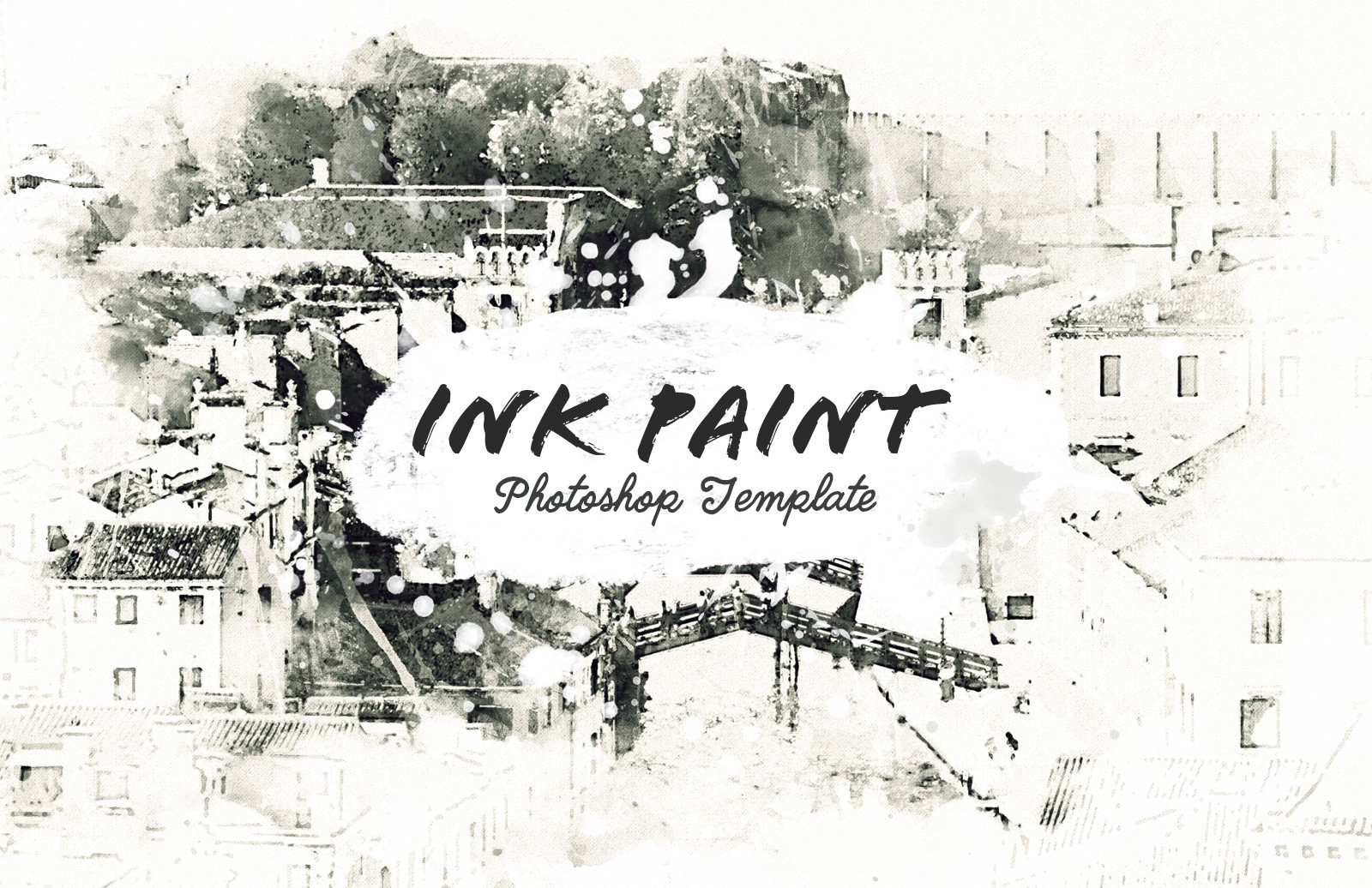 Ink Paint Photoshop Template Preview 1