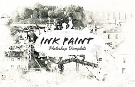 Ink Paint Photoshop Template