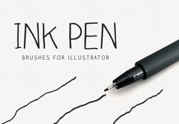Ink Pen Illustrator Brushes