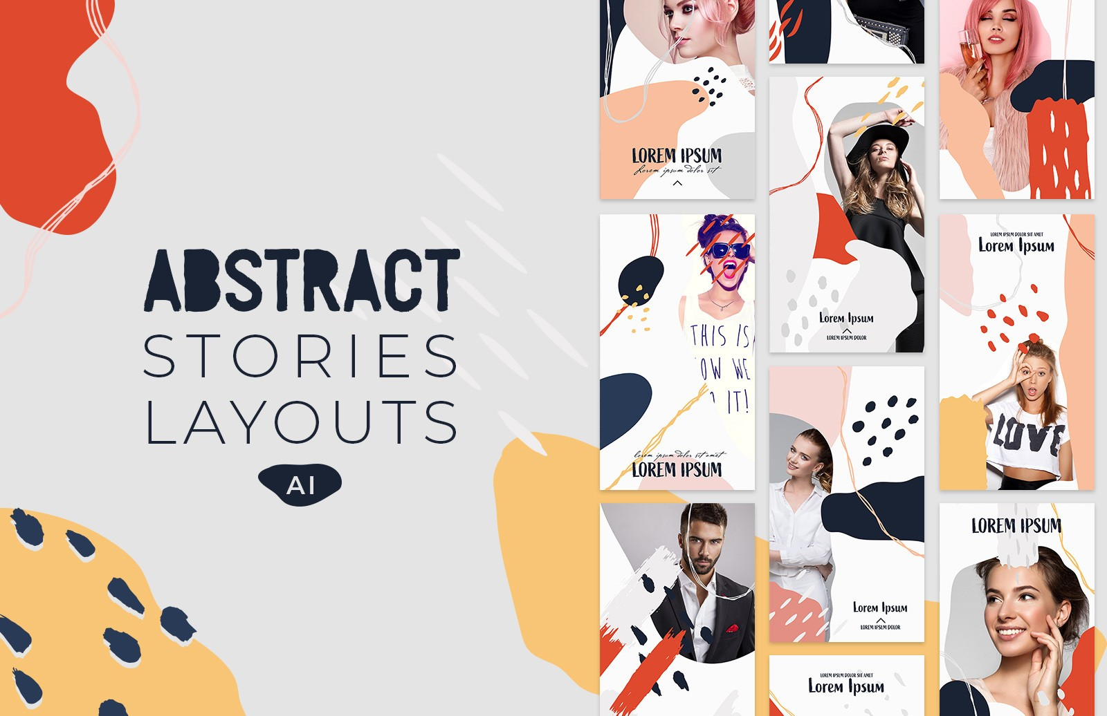 Instagram Abstract Stories Layouts Preview 1