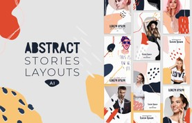 Instagram Abstract Stories Layouts - (AI)