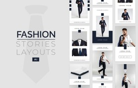 Instagram Fashion Stories Layouts - (AI)