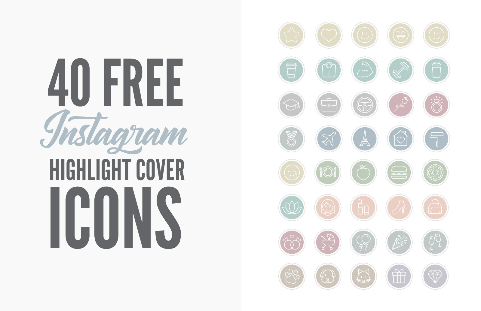 Free Instagram Highlight Cover Icons