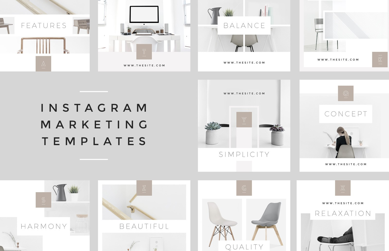 Instagram Marketing Templates Preview 1B