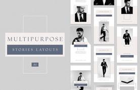 Instagram Multipurpose Stories Layouts - (AI)