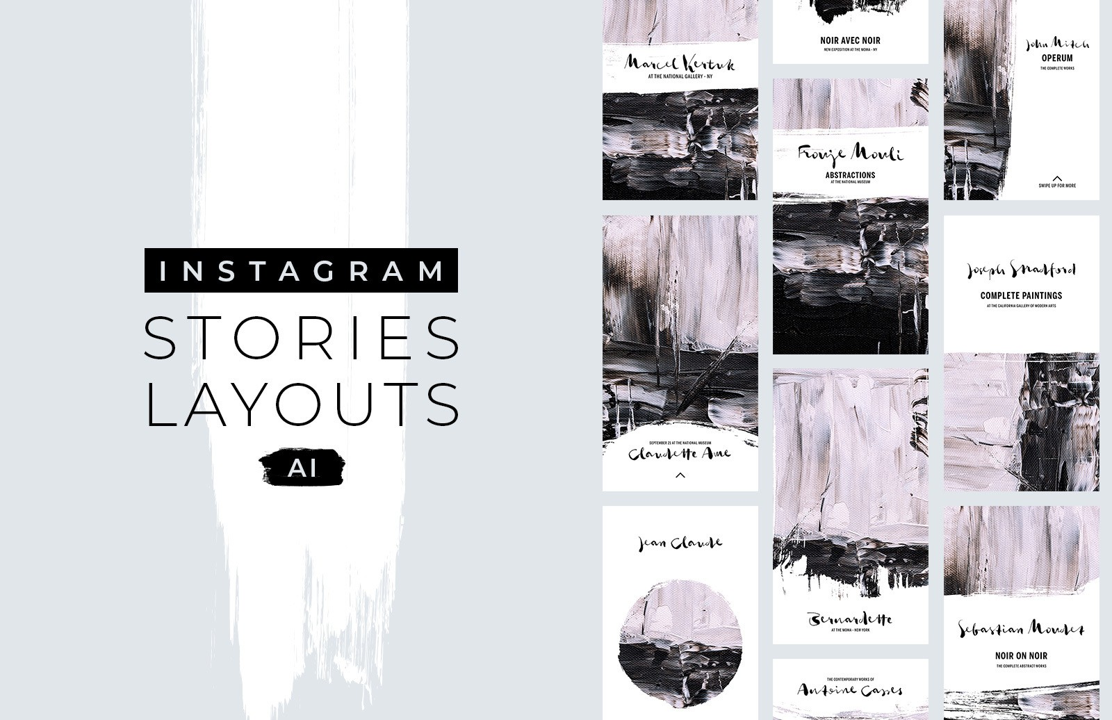 Instagram Stories Layouts - (AI)