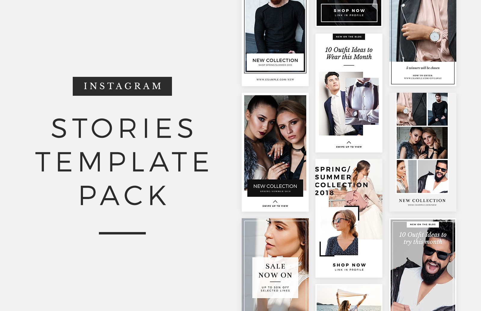 free instagram stories template pack medialoot. Black Bedroom Furniture Sets. Home Design Ideas