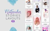 Instagram Watercolor Stories Layouts - (AI)