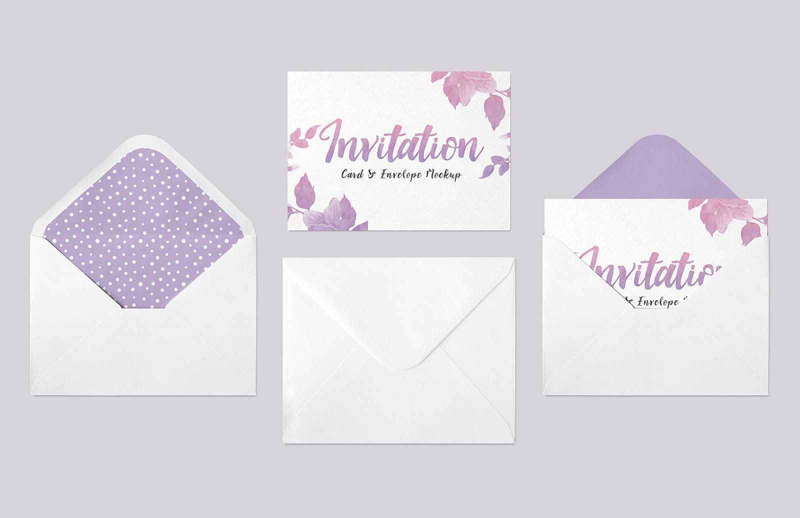 Invitation  Card   Envelope  Mockup  Preview 1