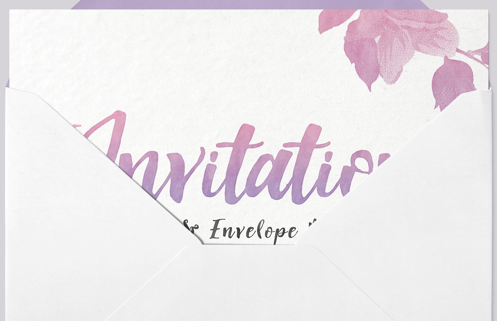 Invitation  Card   Envelope  Mockup  Preview 2