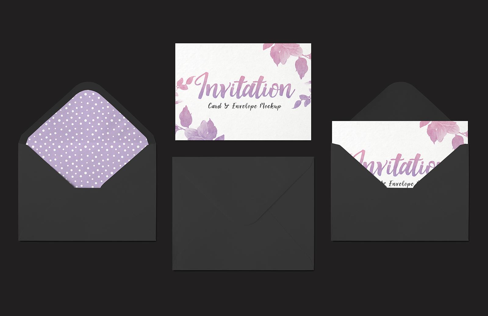 Invitation  Card   Envelope  Mockup  Preview 4