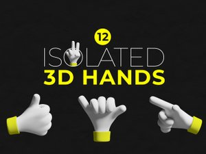 Isolated 3D Hands 1