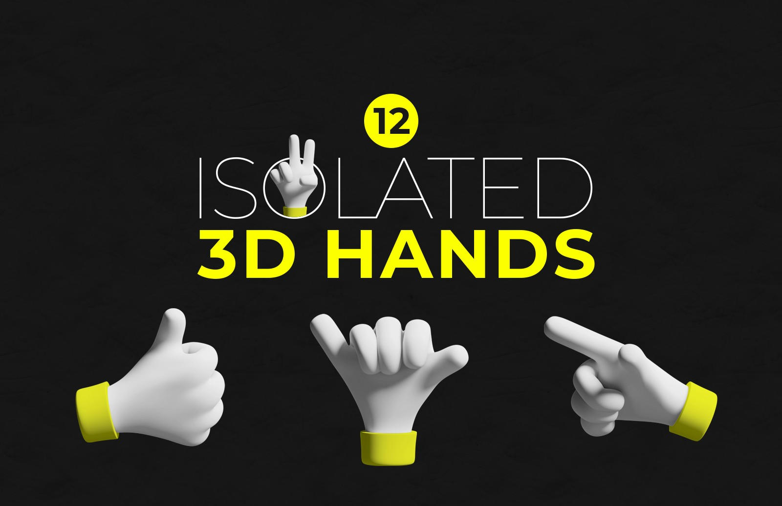 Isolated 3 D Hands Preview 1