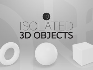 Isolated 3D Objects 1