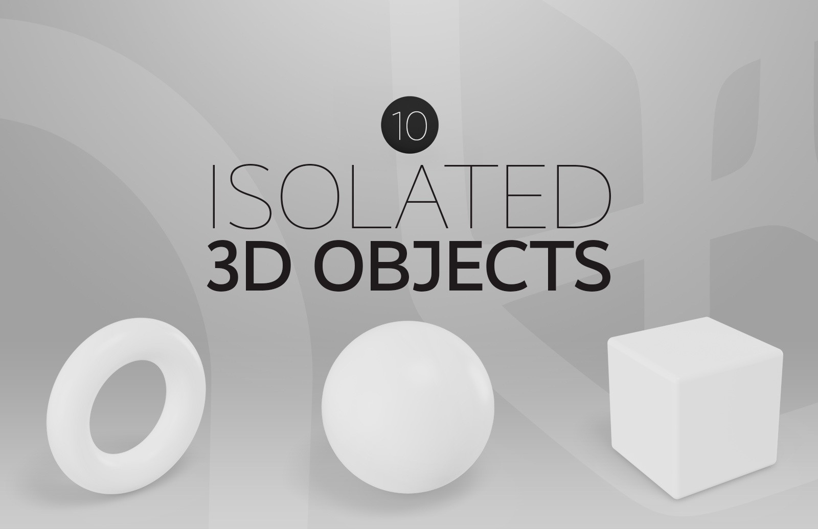 Isolated 3 D Objects Preview 1