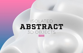 Isolated Abstract 3D Objects