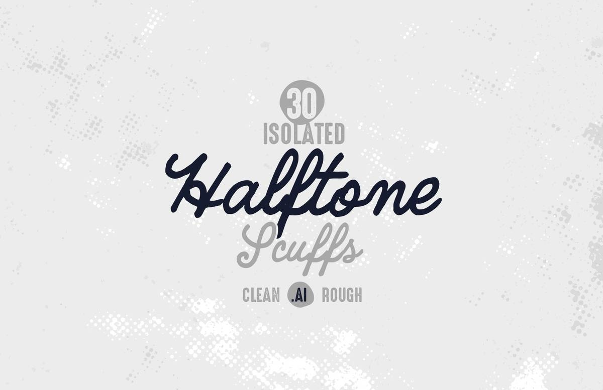 Isolated Halftone Scuffs Preview 1