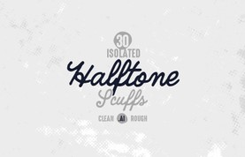 Vector Isolated Halftone Scuffs