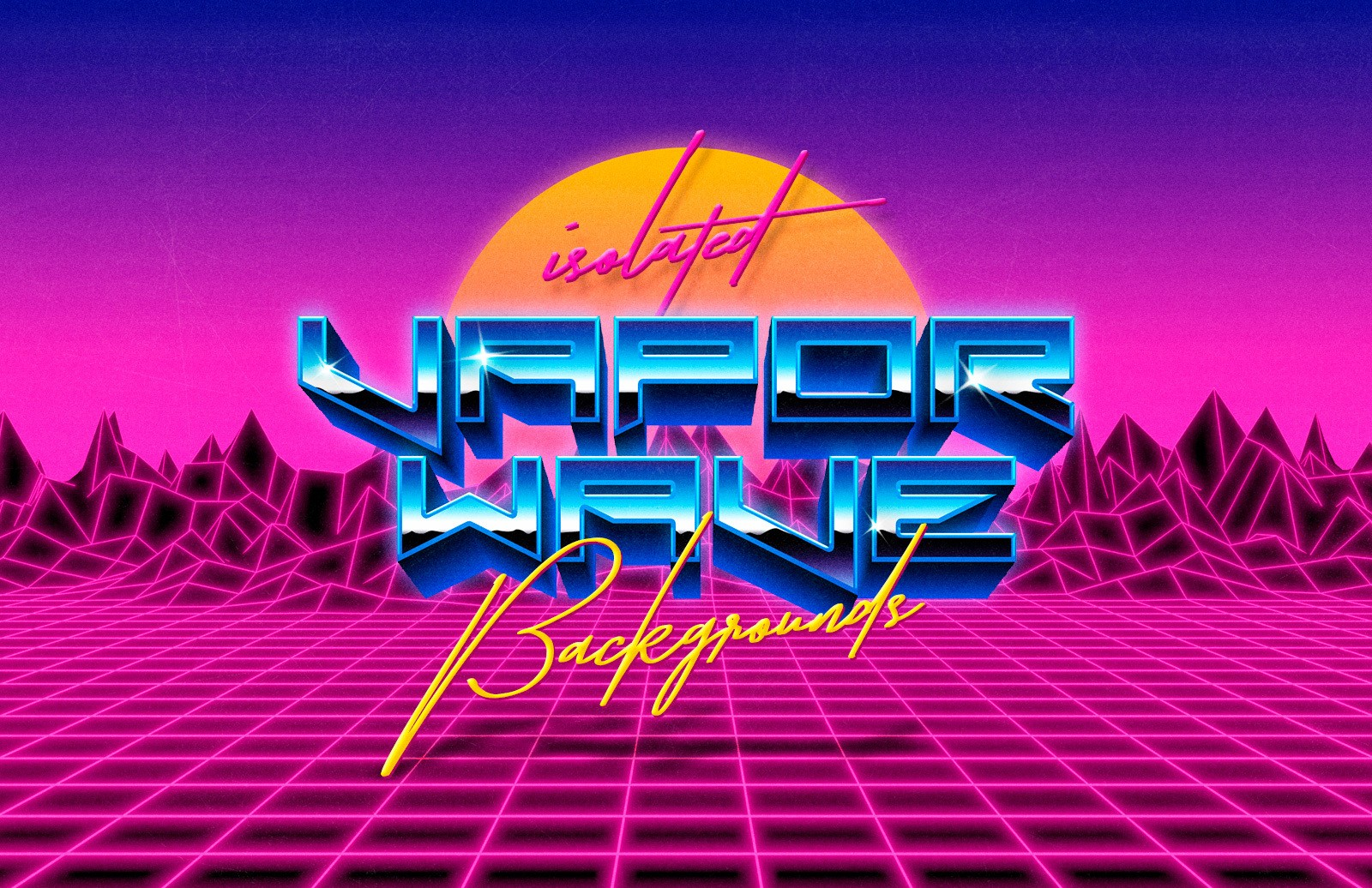 Isolated Vaporwave Backgrounds Preview 1