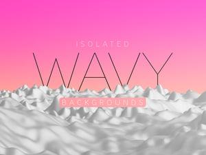 Isolated Wavy Backgrounds 1