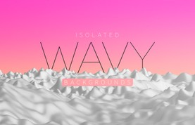 Isolated Wavy Backgrounds