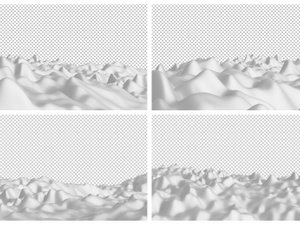 Isolated Wavy Backgrounds 2