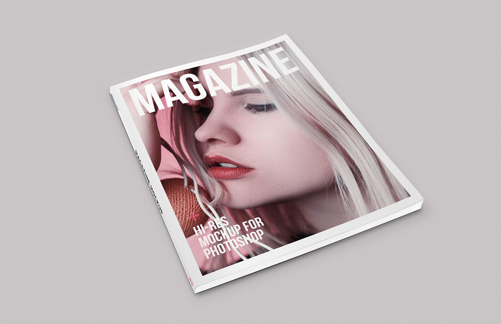 Isometric Magazine Mockup