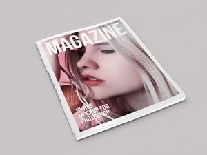 Isometric Magazine Mockup 1