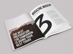 Isometric Magazine Mockup 2