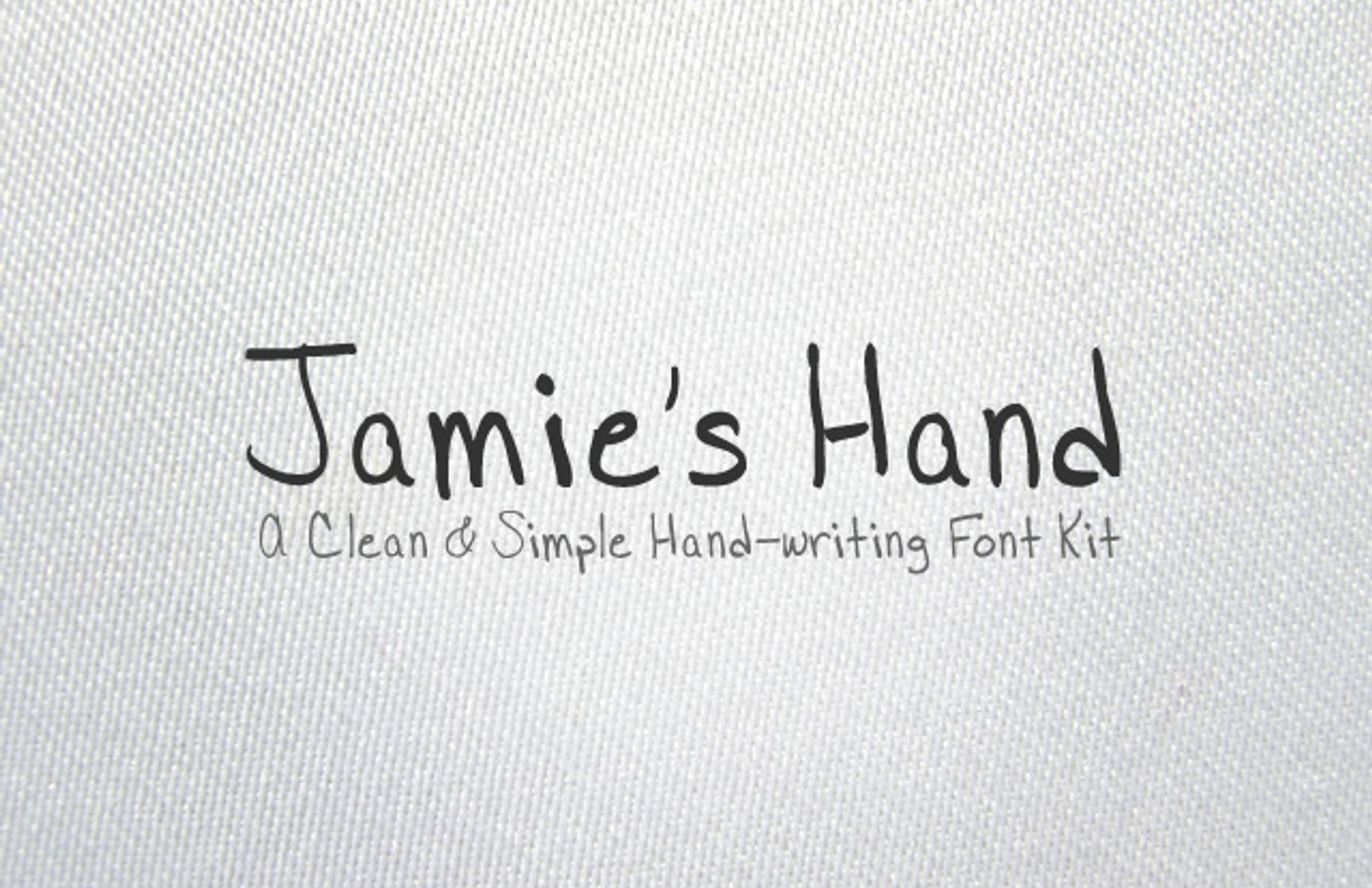 Jamies  Hand  Font  Kit  Preview1