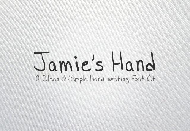 Jamie's Hand Font Kit